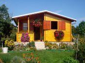 Zahradní domek Nika, okenice, šindel, oplechování