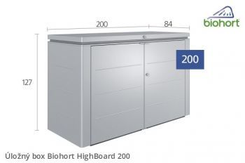 Úložný box HighBoard 200 - Biohort